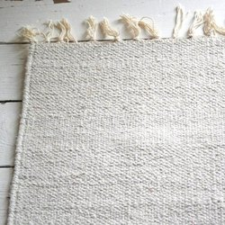 5X8 Feet Plain Floor Cotton Rug For Screen Print And Block Printing