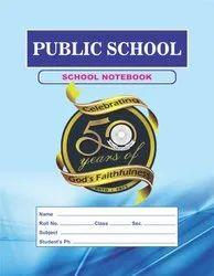 完美装订纸公立学校笔记本,尺寸:24 x 18厘米