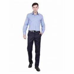 UB-SHI-01 Blue Uniform Shirt For Men