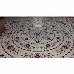 Polished Marble Flooring, Thickness: 15 Mm