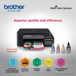 Colored Brother DCP-T310 Inktank Refill System Printer, 27 Pages_per_minute