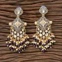Dangler Indo Western Trendy Earring With Gold Plating 100806