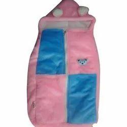 Pink,Blue Velvet Warm Baby Sleeping Bag, 3-12 Months
