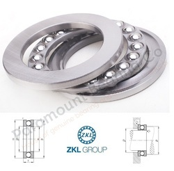 51222 ZKL Thrust Ball Bearing