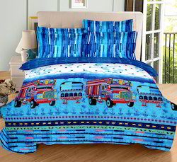 Cotton Digital Printed Double Bedsheet