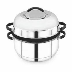 Avias India Stainless Steel Thermal SS Rice Cooker, Capacity: 1 Kg, 1.5 Kg