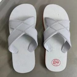 Hospital Chappals,Slippers for Doctors,Nurses,Staff. White Cross Slippers