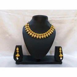 Gold Polished Jewelry Set