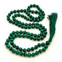 Daily Wear Malachite Mala Bead, Shape: Round