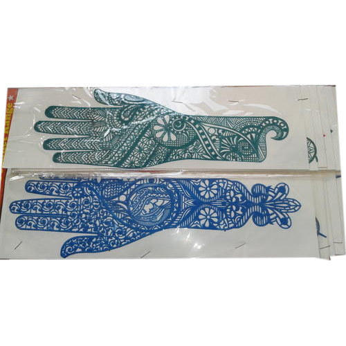 Green Blue Henna Rubber Stencil Pack Size 12 Pcs A Pack For