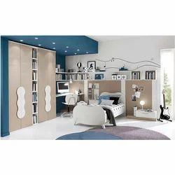 Wood And PVC Kids Bedroom Set