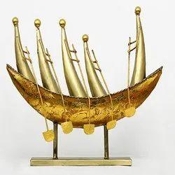 Metal Boat Showpiece