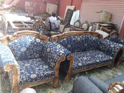 Wooden Modern home designer sofa, Hall, Size: 3+1+1 Seater