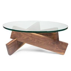 Wood And Glass Designer Centre Table
