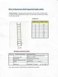 Aluminium Wall Supported Single Ladder