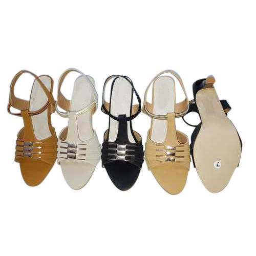 f76c9138a Ladies Pu Fancy Heel Sandal