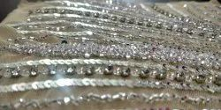 Handwork Net Tulle Beaded Fabrics, For Dress, Gown, Country Of Origin: India