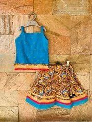 Indian Cotton Kids Skirt Top Set