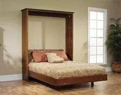 Vivan Interior 6 x 6 feet Wall Mounted Bed with Storage