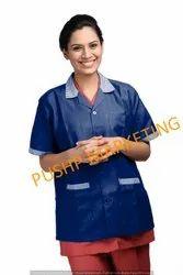 Medical Navy Blue Half Sleeves Apron