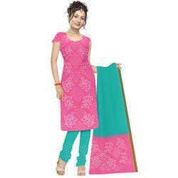 Bandhej Pink Suit