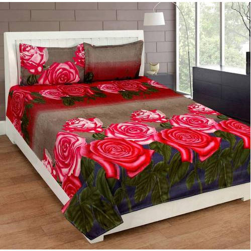 Fl Print Cotton Queen Size Double, Double Bed Sheet Vs Queen Size
