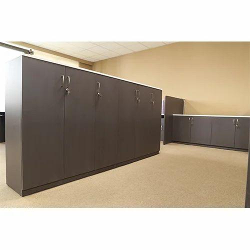 Grey Designer Office Storage Cabinet