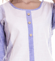 Designer White Kurtis With South Lining