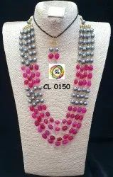 CL Jewellery Shell Pearls And Natural Tumble Stone Imitation Jewellery Set