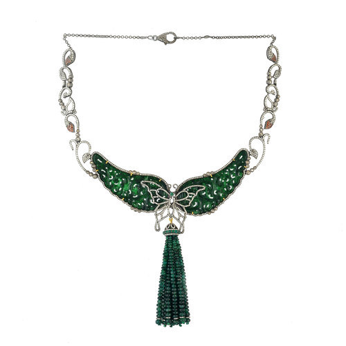 silver jade fortune necklace green product sterling pendant watches dyed chinese bling jewelry