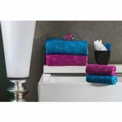 Bellagio Cotton Velvet Plain Bath Towel, 250-350 GSM