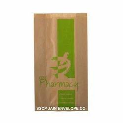 Paper Brown Printed Pharmacy Bag