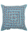 Marron & Goldan Lace Work Brocade Patchwork Decorative Boho 16X16 Cushion Cover