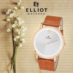 Brass Elliot Slim Premium Men Watch With 1 Year Warranty