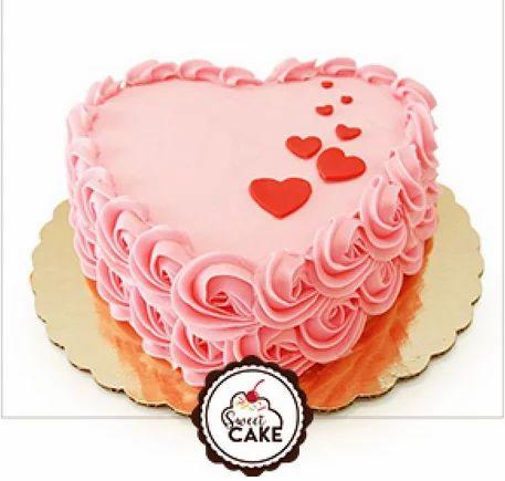 strawberry heart shape cake at rs 399 piece nayabans noida id