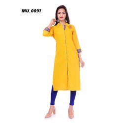 Designer Yellow Ladies Kurti