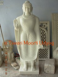 Standing Marble Buddha Statue
