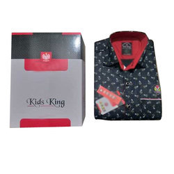 Party Wear Cotton Printed Kids Shirt