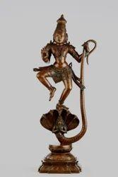 Lord Krishna Kalinga Narthana Panchaloham 15 Inches