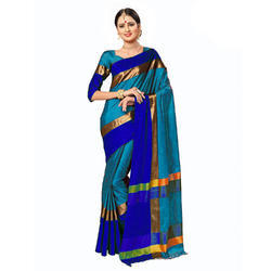Women Cotton Silk Saree With Jhalar