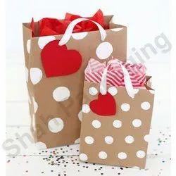 Dot Printed Designer Paper Box Bag, For Packaging, Capacity: 1-2 Kg