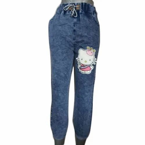 Printed Regular Fit Ladies Casual Denim Jogger Jeans, Waist Size: 28 - 32