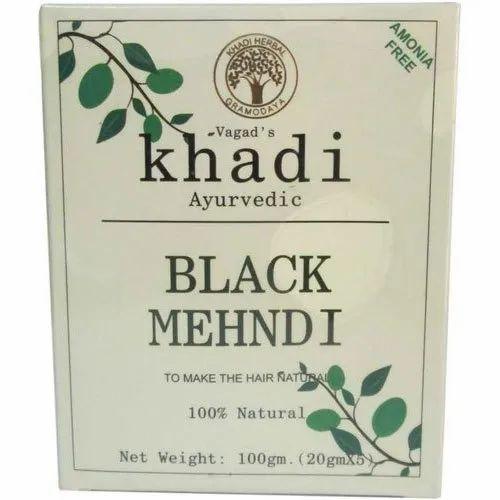 2d680651b Vagad's Khadi Khadi Ayurvedic Black Mehndi, Pack Size: 100 G (20 Gm ...