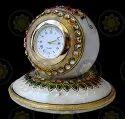 Marble Handicraft Desk Clock