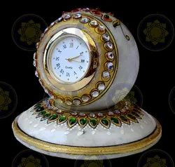 Marble Handicraft Desk Clock