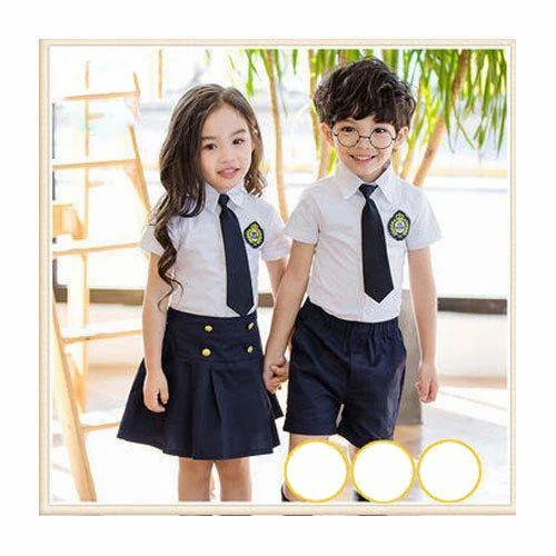 d5ed94889cf8 Cotton School Belt And Shorts Kids Summer School Uniform