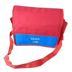 abc Red, Blue PVC College Sling Bag
