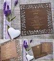 Wooden Laser Cut Wedding Card