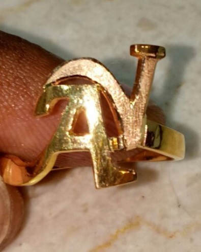 Alphabet Gold Ring & Gold Pendant Wholesaler from Hyderabad
