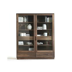 Brown Wooden Display Cabinet